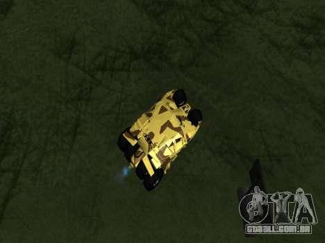 Army Tumbler v2.0 para GTA San Andreas vista traseira