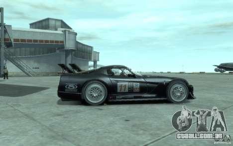 Dodge Viper Competition Coupe para GTA 4 traseira esquerda vista