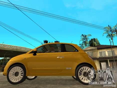 Fiat 500 C para GTA San Andreas esquerda vista
