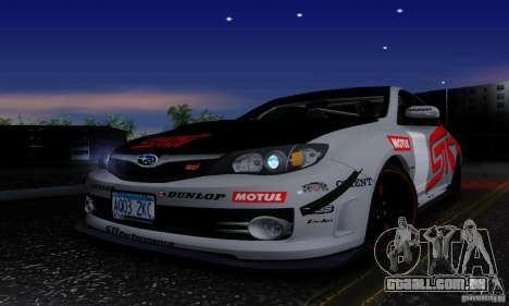 2008 Subaru Impreza Tuneable para GTA San Andreas