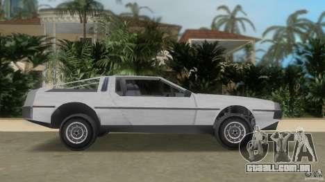 DeLorean para GTA Vice City deixou vista