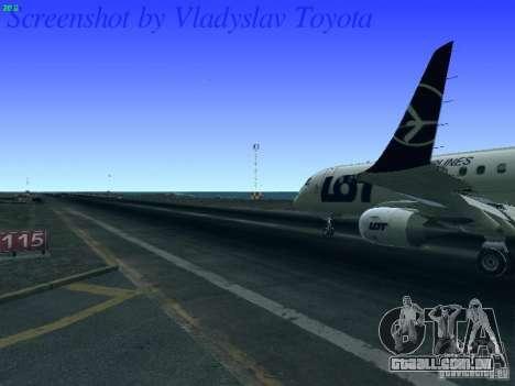Embraer ERJ 190 LOT Polish Airlines para GTA San Andreas vista interior