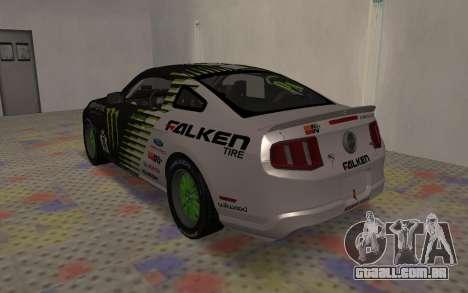 Ford Mustang GT Falken Monster 2010 v2.0 para GTA San Andreas vista direita