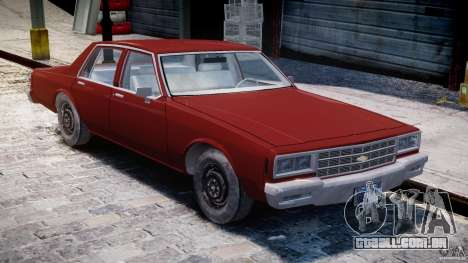 Chevrolet Impala 1983 para GTA 4 vista interior