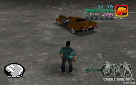 Delorean DMC-13 para GTA Vice City vista traseira esquerda