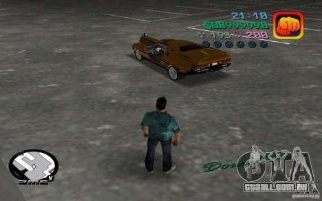 Delorean DMC-13 para GTA Vice City vista direita