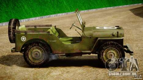 Jeep Willys [Final] para GTA 4 traseira esquerda vista