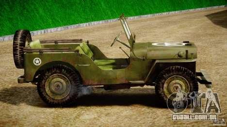 Jeep Willys [Final] para GTA 4 traseira esquerda vista