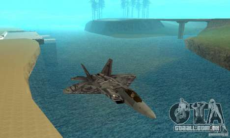 F-22 Starscream para GTA San Andreas vista superior