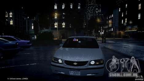 Chevrolet Impala Unmarked Police 2003 v1.0 [ELS] para GTA 4 rodas