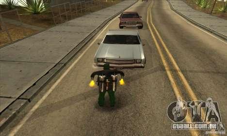 Tiro com uma espingarda serrados com Jetpack para GTA San Andreas segunda tela