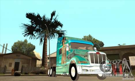 Peterbilt 387 pele 4 para GTA San Andreas vista interior