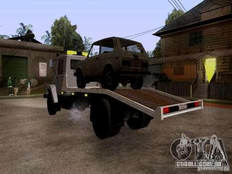 Caminhão de reboque de GAZ 3309 para GTA San Andreas vista direita