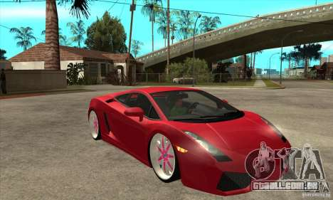Lamborghini Gallardo White & Pink para GTA San Andreas vista traseira