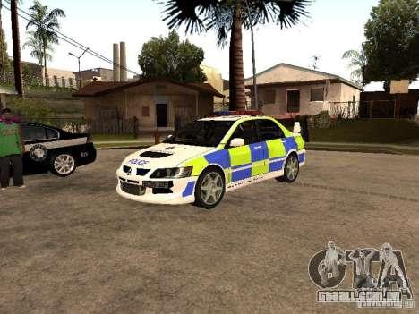 Mitsubishi Lancer EVO 8 Uk Policecar para GTA San Andreas