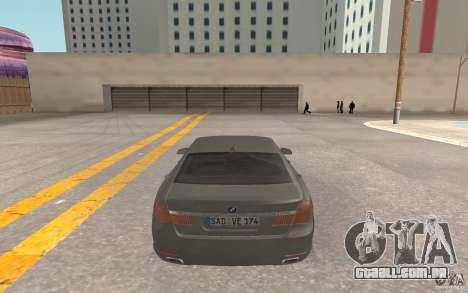 BMW 730d para GTA San Andreas vista direita