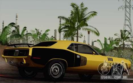 Plymouth Hemi Cuda 426 1971 para GTA San Andreas vista interior