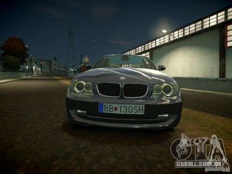 BMW 120i para GTA 4 esquerda vista