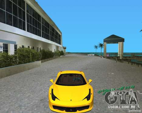 Ferrari 458 Italia para GTA Vice City deixou vista