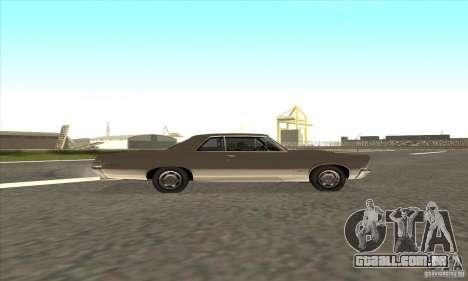 Pontiac GT-100 para GTA San Andreas vista interior