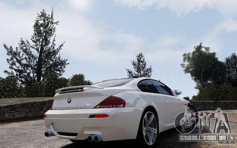BMW M6 2010 v1.4 para GTA 4 vista interior