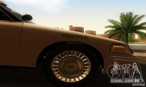 Ford Crown Victoria Virginia Police para GTA San Andreas vista direita