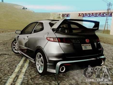 Honda Civic TypeR Mugen 2010 para GTA San Andreas esquerda vista