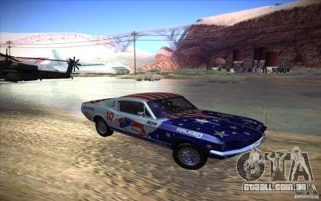 Shelby GT500 1967 para GTA San Andreas vista traseira