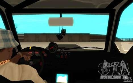 GTA IV Sultan RS FINAL para GTA San Andreas vista traseira