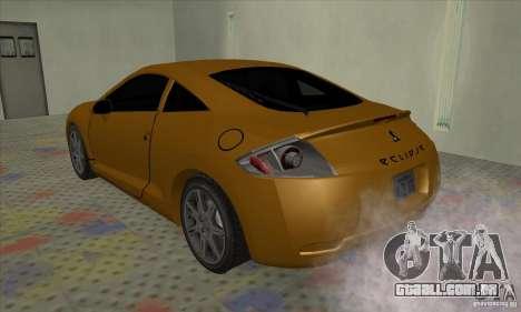 Mitsubishi Eclipse GT para GTA San Andreas vista direita