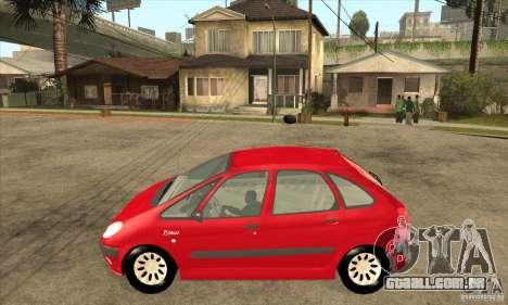 Citroen Xsara Picasso para GTA San Andreas esquerda vista