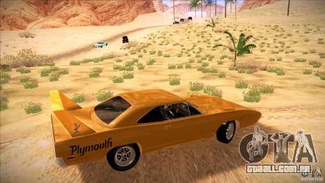 Plymouth Roadrunner Superbird Custom para GTA San Andreas esquerda vista