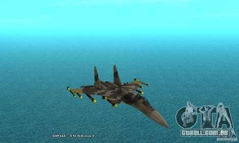 Su-37 Terminator para GTA San Andreas vista superior