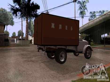 GAZ 51 pão para GTA San Andreas esquerda vista