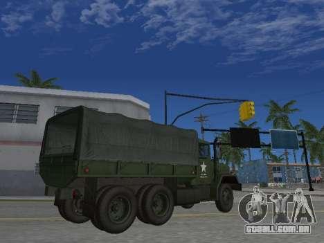 AM General M35A2 para vista lateral GTA San Andreas