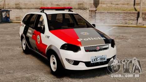 Fiat Palio Weekend Trekking 2013 PMESP ELS para GTA 4