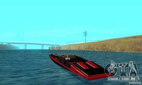 GTAIV TBOGT Smuggler para GTA San Andreas traseira esquerda vista