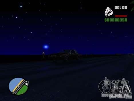Céu estrelado V 2.0 (jogador) para GTA San Andreas por diante tela