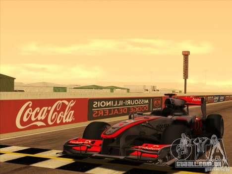 McLaren MP4-25 F1 para GTA San Andreas vista superior