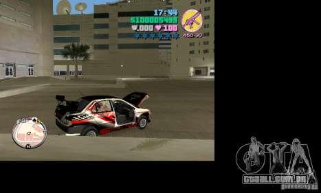 Mitsubishi Lancer Evo VIII para GTA Vice City vista direita