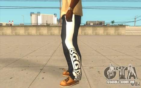 Reebok Sporthose para GTA San Andreas segunda tela
