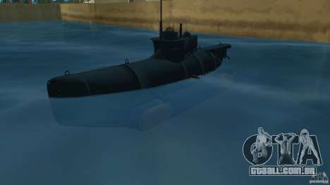Seehund Midget Submarine skin 2 para GTA Vice City