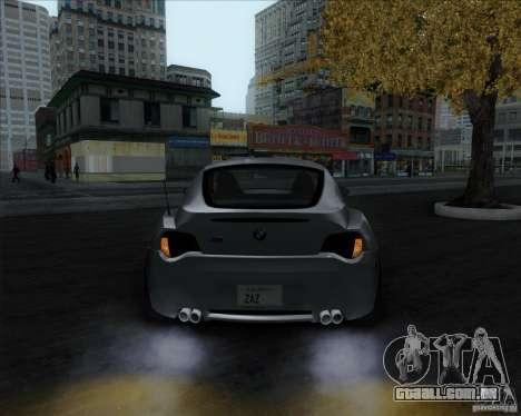 BMW Z4M para GTA San Andreas traseira esquerda vista