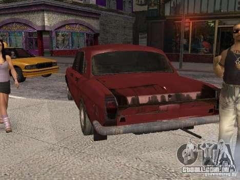 Volga Gaz M24-Rusty morte para GTA San Andreas traseira esquerda vista