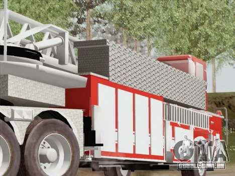 Pierce Arrow XT LAFD Tiller Ladder Trailer para GTA San Andreas vista direita