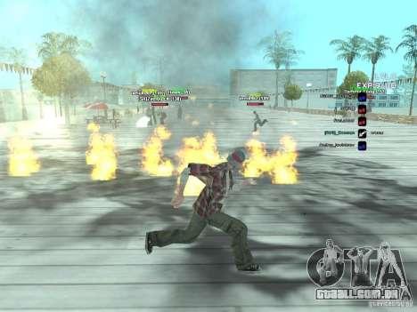 SA:MP 0.3d para GTA San Andreas por diante tela