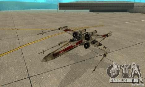 X-WING de Star Wars v1 para GTA San Andreas vista superior