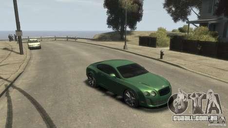 Bentley Continental SS para GTA 4 traseira esquerda vista