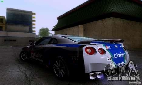 Nissan GTR R35 Tuneable para GTA San Andreas vista traseira