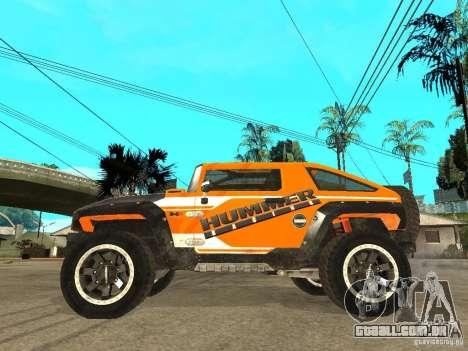 Hummer HX Concept from DiRT 2 para GTA San Andreas esquerda vista